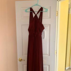 Bill Levkoff Dress | Size 6 | Wine | 1274 | NWT